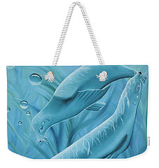 Weekender Tote Bag featuring the painting Uphoria by Dianna Lewis