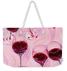 Weekender Tote Bag featuring the painting Uplifting Spirits  by Sandi Whetzel