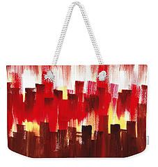 Urban Abstract Evening Lights Weekender Tote Bag by Irina Sztukowski