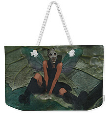 Weekender Tote Bag featuring the digital art Urban Fairy by Galen Valle
