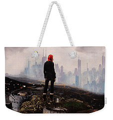 Weekender Tote Bag featuring the digital art Urban Human by Galen Valle