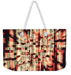 Weekender Tote Bag featuring the photograph Urban Maze by Kellice Swaggerty