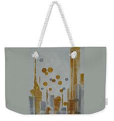 Weekender Tote Bag featuring the painting Urban Polish by Judith Rhue