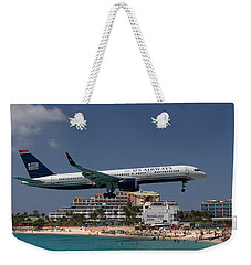 U S Airways At St Maarten Weekender Tote Bag