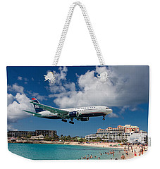 U S Airways Landing At St. Maarten Weekender Tote Bag