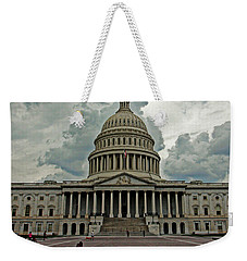 Weekender Tote Bag featuring the photograph U.s. Capitol Building by Suzanne Stout
