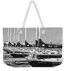 Us Navy 44 Sail Training Craft II Weekender Tote Bag by Clarence Holmes