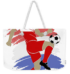 Usa Soccer Player Weekender Tote Bag