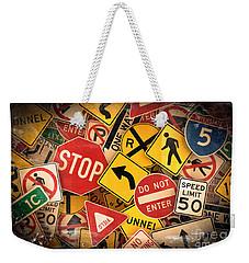 Usa Traffic Signs Weekender Tote Bag by Carsten Reisinger