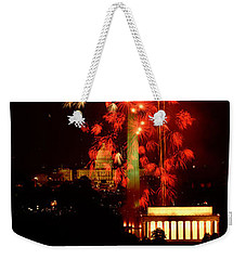 Usa, Washington Dc, Fireworks Weekender Tote Bag by Panoramic Images
