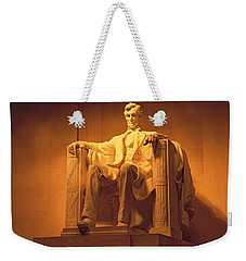 Usa, Washington Dc, Lincoln Memorial Weekender Tote Bag by Panoramic Images