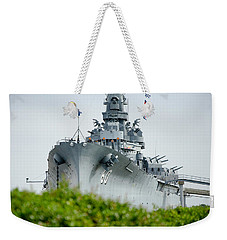 Weekender Tote Bag featuring the photograph Uss Alabama 2 by Susan  McMenamin