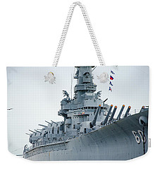 Weekender Tote Bag featuring the photograph Uss Alabama 3 by Susan  McMenamin