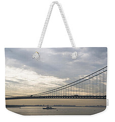 Uss Cole And The Verrazano Narrows Bridge Weekender Tote Bag