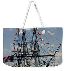 Weekender Tote Bag featuring the photograph Uss Constitution by Mike Ste Marie