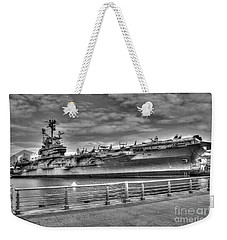 Uss Intrepid Weekender Tote Bag by Anthony Sacco