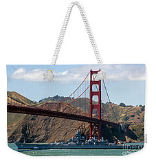 U.s.s. Iowa Up Close Weekender Tote Bag