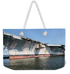 Uss John F. Kennedy Weekender Tote Bag by Susan  McMenamin