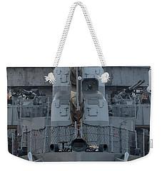 Uss Kidd Dd 661 Front View Weekender Tote Bag