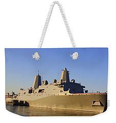 Uss New York - Lpd21 Weekender Tote Bag by Dora Sofia Caputo Photographic Art and Design