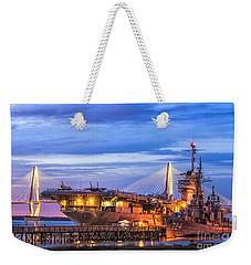 Uss Yorktown Museum Weekender Tote Bag by Jerry Fornarotto