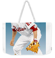 Weekender Tote Bag featuring the digital art Utley In The Ready by Scott Weigner