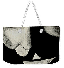 Weekender Tote Bag featuring the painting V by Dale Loos Jr