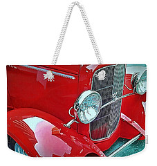 Weekender Tote Bag featuring the photograph V8 by Victor Montgomery