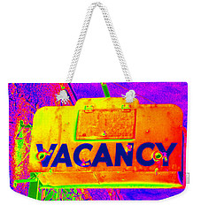 Vacancy Hotel Sign Weekender Tote Bag