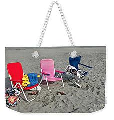 Vacation Time Beach Art Prints Weekender Tote Bag by Valerie Garner