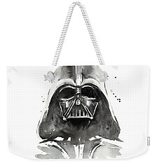 Darth Vader Watercolor Weekender Tote Bag by Olga Shvartsur