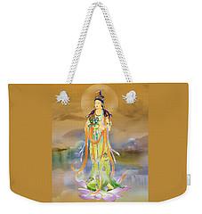 Weekender Tote Bag featuring the photograph Vaidurya  Kuan Yin by Lanjee Chee