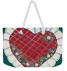 Valentine Heart Weekender Tote Bag by Barbara McDevitt