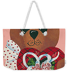 Valentine Hug Weekender Tote Bag by Barbara McDevitt