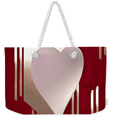 Valentine Paper Heart Weekender Tote Bag by Gary Eason