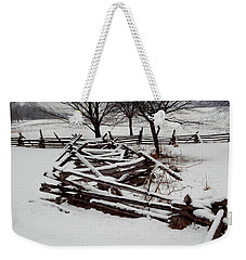 Valley Forge Snow Weekender Tote Bag by Michael Porchik