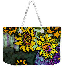 Van Gogh Sunflowers Cover Weekender Tote Bag