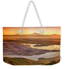 Vancouver And Mt Baker Aerial View Weekender Tote Bag by Eti Reid