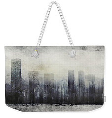 Vancouver Skyline Abstract 1 Weekender Tote Bag by Peter v Quenter