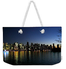 Weekender Tote Bag featuring the photograph Vancouver Skyline by Will Borden