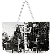 Weekender Tote Bag featuring the photograph Vancouver's Chinatown by Cendrine Marrouat
