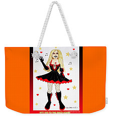 Weekender Tote Bag featuring the painting Vannieh-the Disco-queen Of The Nineties by Don Pedro De Gracia