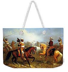 Vaqueros Roping Wild Horses Weekender Tote Bag
