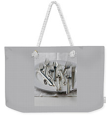 Various Forks On A Plate Weekender Tote Bag