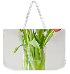 Vase Of Tulips Weekender Tote Bag by Dee Cresswell