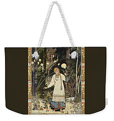 Weekender Tote Bag featuring the painting Vasilisa by Pg Reproductions