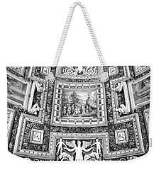 Vatican Museum Gallery Of Maps Black And White Weekender Tote Bag