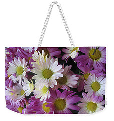 Weekender Tote Bag featuring the photograph Vegas Butterfly Garden Flowers Colorful Romantic Interior Decorations by Navin Joshi