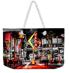 Vegas Nights Weekender Tote Bag by Az Jackson