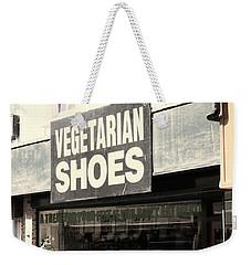 Vegetarian Shoes Weekender Tote Bag